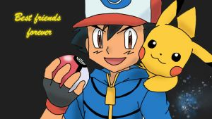 Ash and Pikachu : Best friends forever. by Flitzalys