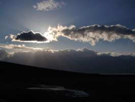 Sun and Clouds, Death Valley by Geotripper