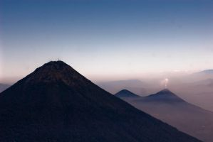 Volcan de Agua and Pacaya by SantiBilly