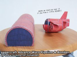 Papercraft Advance Wars Pipeline + Bomber by ninjatoespapercraft