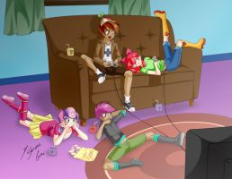 Gaming Night by Shinta-Girl