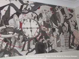 My Chemical Romance Black Parade Mural Closer Look by snazzie-designz