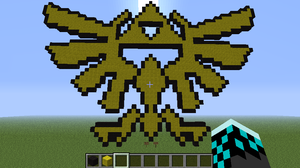 Hylian Crest- Minecraft Pixel Art by enjoytheride201