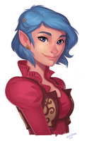 Elf Girl Commission + Process Video by leahmsmith
