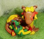Soorn and Staceel_Polymerclay by Wollfisch