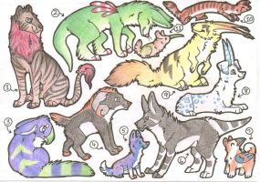 Traditional Adopts 3 CLOSED by AbwettarAdopt