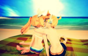 [MMD] Beach Kiss (Requested) by Snorlaxin