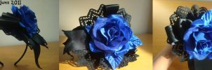 Blue Rose Headdress by scream-of-existence