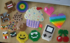 My first perler creations by ninick-the-demon