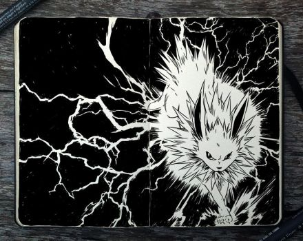 #278 Jolteon by Picolo-kun