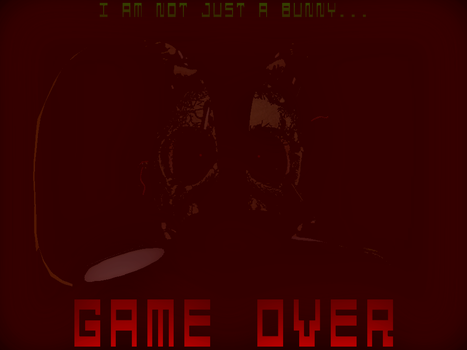 Fan Made FNaF 3 Game Over Screen by KittenLover75