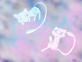 Mew and Shiny by EmoRock114