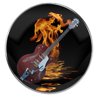 Guitar Icon by 0dd0ne