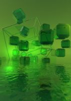 Green Tesseract by shoughad