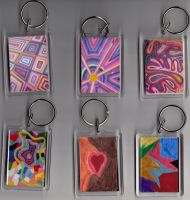 Six Key Fobs side one by Clangston