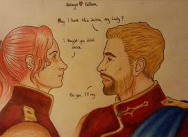 F/Trevelyan having a dance with Cullen by silah021