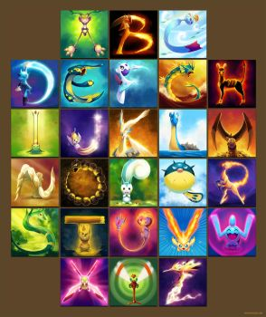 The Pokemon Alphabet by arkeis-pokemon
