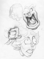 Funny Faces: 1 by PreyingDantis