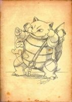 Blastoise fishing by Tsuani-Inushiro