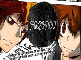 Tsuna and Enma manga color by BLEACHGAME