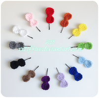 Bow Hair Pins by xxtiffiee