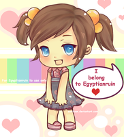Chibi Commission mascot by zunifuun