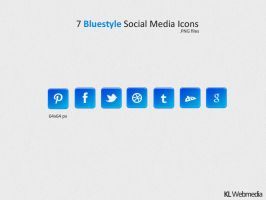 Bluestyle Social Media Icons by KL-Webmedia