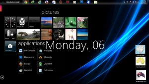 omnimo rainmeter skin by zulhanif