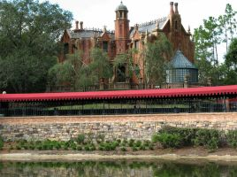 Haunted Mansion view from boat by WDWParksGal-Stock