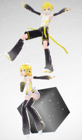 .:Happy Birthday, Rin and Len:. by Puffywings