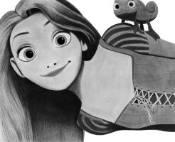 Tangled - Rapunzel and Pascal by Yiinx
