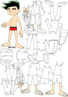 Jake Long paper doll by Sheeeva