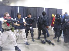 Anime Vegas Day 2 Umbrella with SpecOps and STARS by Demon-Lord-Cosplay