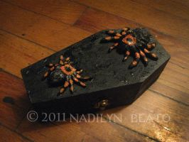 Tarantula Coffin Jewelry Box by NadilynBeato
