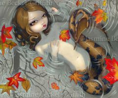 Autumn Mermaid by jasminetoad