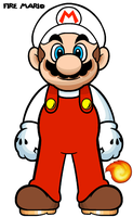 Fire Mario by Grimklok
