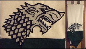 House Stark Banner by Special-Measures