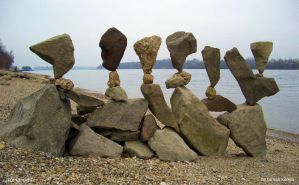 Stone balance composition(budapest,romai-part) by tom-tom1969