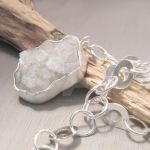 White mineral necklace by Jealousydesign