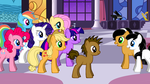 Kitty and Dudley Meet the Mane Six by Eli-J-Brony