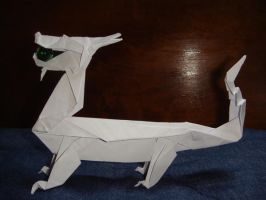 NEWER origami dragon by silent-anton123