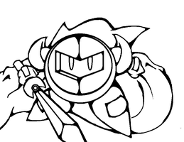 Meta-Knight Base or Lineart by MissDrawsAlot