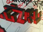 LZK 3d graffiti by fishkillszombie