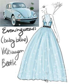 (Baby Blue) Volkswagon Beetle by GL-Gloria