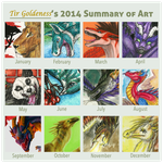 My year 2014 by Tir-Goldeness