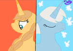 Frozen Anna and Elsa as ponies by FluttyDash1006