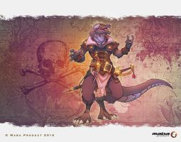 Iguana Pirate by MabaProduct