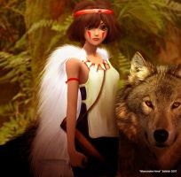 mononoke hime by SATTISH