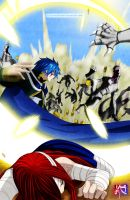 Fairy Tail Chapter 331- Jellal saves Erza by Kayden007