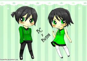 Buttercup And Butch.. by faramitha